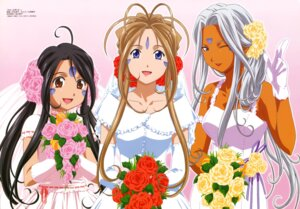 Rating: Safe Score: 24 Tags: ah_my_goddess belldandy dress skuld sugimoto_sachiko urd wedding_dress User: Magus