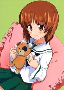 Rating: Safe Score: 9 Tags: bandages bandaid girls_und_panzer kanau nishizumi_miho seifuku User: drop