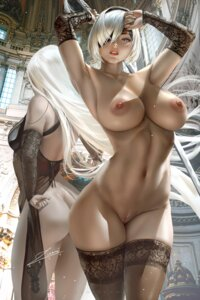 Rating: Explicit Score: 53 Tags: ass chinadress mecha_musume naked nier_automata nipples no_bra nopan pubic_hair pussy see_through sword thighhighs uncensored yorha_no.2_type_b yorha_type_a_no._2 zumi_(zumidraws) User: BattlequeenYume