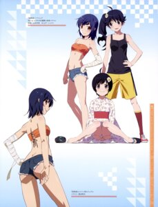 Rating: Questionable Score: 75 Tags: araragi_karen araragi_tsukihi ass bakemonogatari bandages hanamonogatari kanbaru_suruga nisemonogatari watanabe_akio yamamura_hiroki yukata User: drop