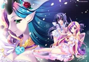 Rating: Questionable Score: 43 Tags: anthropomorphization breast_hold cleavage dress elf erect_nipples horns my_little_pony my_little_pony:_friendship_is_magic pointy_ears princess_cadance queen_chrysalis sakurano_ruu seifuku torn_clothes twilight_sparkle wings User: 椎名深夏