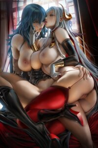 Rating: Explicit Score: 106 Tags: anus armor bottomless breasts byleth edelgard_(fire_emblem) fire_emblem heels horns naked nipples no_bra pussy sakimichan stockings thighhighs uncensored yuri User: KoVaan