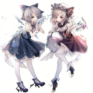 Rating: Safe Score: 56 Tags: cirno flandre_scarlet heels hito_komoru pantyhose touhou wings User: Mr_GT