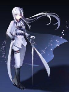 Rating: Safe Score: 17 Tags: garter heterochromia onsem sword uniform User: charunetra
