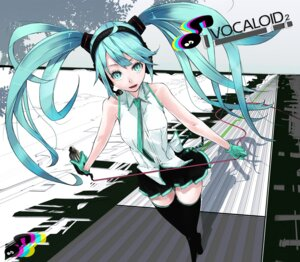 Rating: Safe Score: 13 Tags: hatsune_miku mille thighhighs vocaloid User: Radioactive