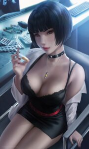 Rating: Questionable Score: 42 Tags: bra cleavage dress dress_shirt open_shirt persona_5 takemi_tae wickellia User: Darkthought75