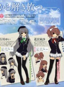 Rating: Safe Score: 44 Tags: furukawa_yui hanamiya_nagisa kuroya_shinobu pantyhose seifuku thighhighs trumple ushinawareta_mirai_wo_motomete User: Devard
