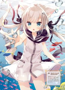 Rating: Questionable Score: 42 Tags: animal_ears dress hoshi see_through skirt_lift tail User: Twinsenzw