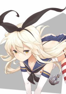 Rating: Questionable Score: 21 Tags: jampen kantai_collection pantsu seifuku shimakaze_(kancolle) skirt_lift thighhighs thong User: yanis
