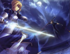 Rating: Safe Score: 14 Tags: fate/stay_night fate/zero lancer_(fate/zero) saber takeuchi_takashi type-moon User: Velen