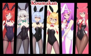 Rating: Questionable Score: 25 Tags: animal_ears bunny_ears bunny_girl cameltoe cleavage flandre_scarlet hong_meiling izayoi_sakuya koakuma megane pantyhose patchouli_knowledge remilia_scarlet tail touhou wu_yao_jun User: Dreista