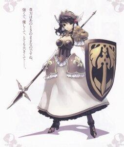 Rating: Safe Score: 22 Tags: agarest_senki bleed_through cleavage elaine hirano_katsuyuki User: Radioactive