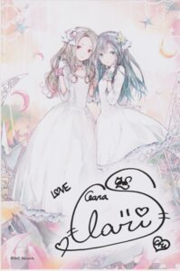 Rating: Safe Score: 33 Tags: autographed clara claris dress karen_(claris) takano_otohiko User: あいこ