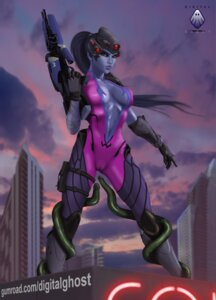 Rating: Explicit Score: 9 Tags: bandages cameltoe gun no_bra nopan overwatch tagme tentacles widowmaker User: reaver80808