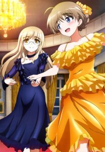 Rating: Questionable Score: 38 Tags: dress lynette_bishop megane perrine-h_clostermann strike_witches User: drop