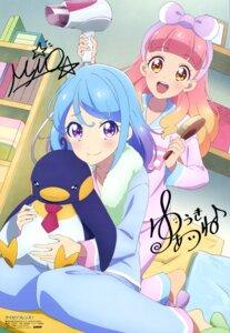 Rating: Safe Score: 19 Tags: aikatsu_friends! autographed minato_mio pajama penguin shirai_youko yuuki_aine User: drop
