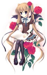 Rating: Safe Score: 31 Tags: indico_lite mitha thighhighs wings User: androgyne