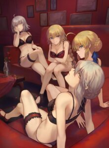 Rating: Questionable Score: 41 Tags: bra breast_hold cleavage fate/grand_order garter heels jeanne_d'arc jeanne_d'arc_(alter)_(fate) jeanne_d'arc_(fate) lingerie mashu_(003) pantsu saber saber_alter string_panties User: Mr_GT