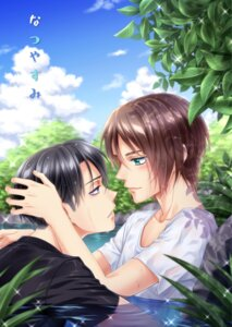Rating: Safe Score: 5 Tags: eren_jaeger levi male shingeki_no_kyojin wet_clothes yaoi yomi_(killer_show1) User: charunetra