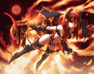 Rating: Safe Score: 26 Tags: devil horns mecha_musume tail thighhighs wings zenn User: Radioactive