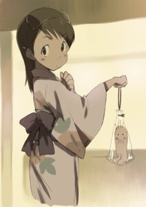 Rating: Safe Score: 9 Tags: dennou_coil hashimoto_fumie kawata_hisashi oyaji yukata User: denim332