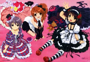 Rating: Safe Score: 29 Tags: asahina_mikuru cleavage dress gothic_lolita ikeda_shouko lolita_fashion nagato_yuki suzumiya_haruhi suzumiya_haruhi_no_yuuutsu User: Velociraptor