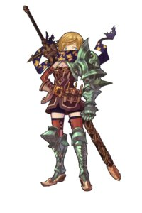 Rating: Safe Score: 8 Tags: armor cleavage kansousamehada sword thighhighs User: Radioactive