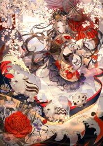 Rating: Safe Score: 6 Tags: asian_clothes kouyafu umbrella User: BattlequeenYume