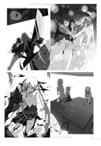 Rating: Questionable Score: 3 Tags: cleavage dress hagane_no_tsurugi_3_close_encounter_with_the_all_enemy kasuga_ayumu_(artist) monochrome seifuku sword torn_clothes User: fireattack