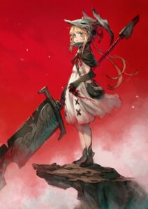 Rating: Safe Score: 17 Tags: armor blood dress kusano_shinta sword User: Dreista