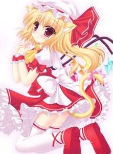 Rating: Safe Score: 28 Tags: animal_ears flandre_scarlet shimotsuki_keisuke tail thighhighs touhou User: KerrigN