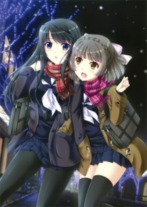 Rating: Safe Score: 27 Tags: pantyhose seifuku tagme thighhighs yuri User: Twinsenzw