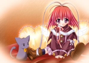 Rating: Safe Score: 6 Tags: amane_sou angel kisaragi_haruka neko sayorana_etranger wings User: Radioactive