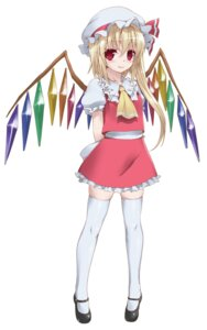 Rating: Safe Score: 15 Tags: byeontae_jagga flandre_scarlet thighhighs touhou wings User: dyj