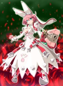 Rating: Safe Score: 20 Tags: dress elphelt_valentine guilty_gear guilty_gear_xrd gun nori_tamago User: RyuZU