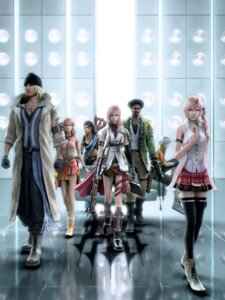 Rating: Safe Score: 33 Tags: cg final_fantasy final_fantasy_xiii hope_estheim lightning oerba_dia_vanille oerba_yun_fang sazh_katzroy serah_farron snow_villiers square_enix thighhighs User: Radioactive