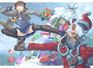 Rating: Questionable Score: 14 Tags: christmas itou_(onnsokutassha) pantsu seifuku thighhighs User: Radioactive