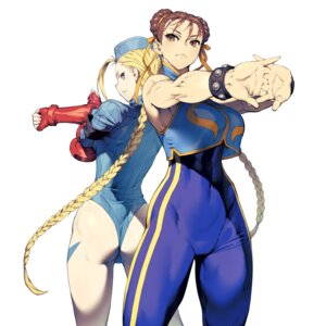 Rating: Safe Score: 31 Tags: armor ass bodysuit cammy_white chun_li cozy leotard street_fighter street_fighter_zero User: Mr_GT