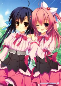 Rating: Safe Score: 51 Tags: himenomi_miruku izumiyuhina nanamori_kurumi parasol seifuku yume_koi User: Twinsenzw