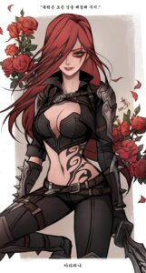 Rating: Safe Score: 24 Tags: cleavage katarina_du_couteau league_of_legends seo-love tattoo weapon User: charunetra