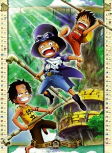 Rating: Safe Score: 13 Tags: calendar male monkey_d_luffy one_piece portgas_d_ace sabo User: fireattack