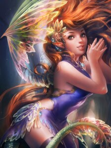 Rating: Safe Score: 48 Tags: chinadress sakimichan tail thighhighs wings User: charunetra