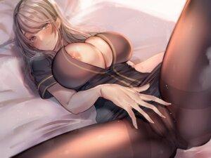 Rating: Questionable Score: 127 Tags: amane_ruri cameltoe nipple_slip no_bra nopan open_shirt pantyhose skirt_lift User: BattlequeenYume