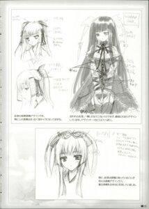 Rating: Safe Score: 4 Tags: itsuka_todoku_anosorani moekibara_fumitake monochrome ousuki_konome sketch User: admin2