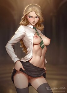 Rating: Explicit Score: 72 Tags: breasts harry_potter luna_lovegood nipples no_bra nopan open_shirt pussy seifuku skirt_lift tarakanovich thighhighs uncensored watermark User: Mr_GT