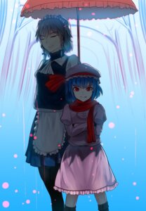 Rating: Questionable Score: 11 Tags: izayoi_sakuya maid pantyhose remilia_scarlet swordwaltz touhou User: sylver650