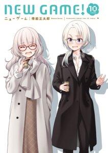 Rating: Safe Score: 17 Tags: business_suit hazuki_shizuku megane new_game! tokunou_shoutarou yamato_christina_wako User: kiyoe