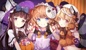 Rating: Safe Score: 47 Tags: animal_ears halloween luna_child risui_(suzu_rks) star_sapphire sunny_milk touhou witch User: Mr_GT