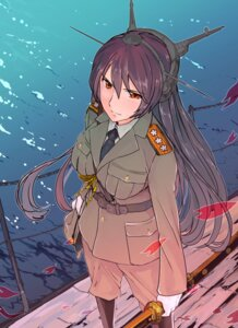 Rating: Safe Score: 25 Tags: kantai_collection nagato_(kancolle) onoguru sword uniform User: Mr_GT