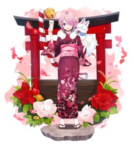 Rating: Safe Score: 35 Tags: fate/grand_order fou_(fate/grand_order) kimono mash_kyrielight ongyageum User: Mr_GT